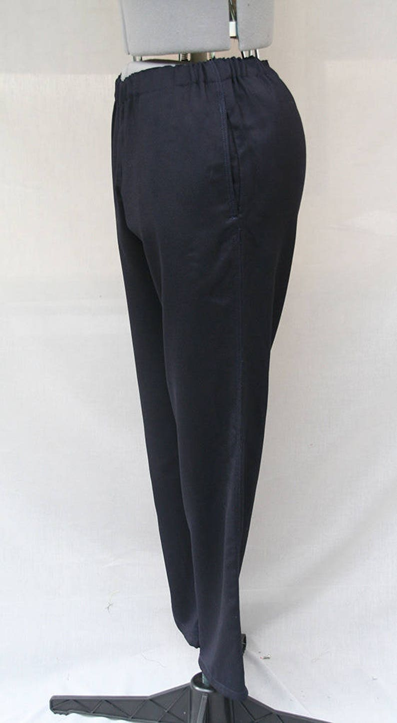 46d569fa5 Navy blue stretch women pants Navy blue cotton stretch women | Etsy