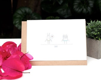 Golly Family - Sorry greeting card