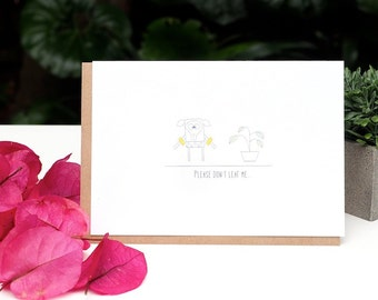 Golly Family - Please don't leaf me greeting card