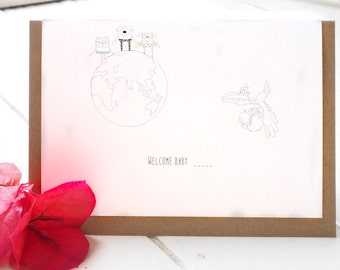 Golly Family - Welcome baby greeting card