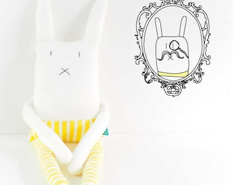 Golly Family - Stuffed bunny soft toy - Hector, the forgetful bunny