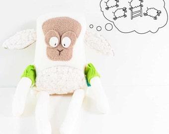 Golly Family - Stuffed soft toy - Miranda, the hypochondriac sheep