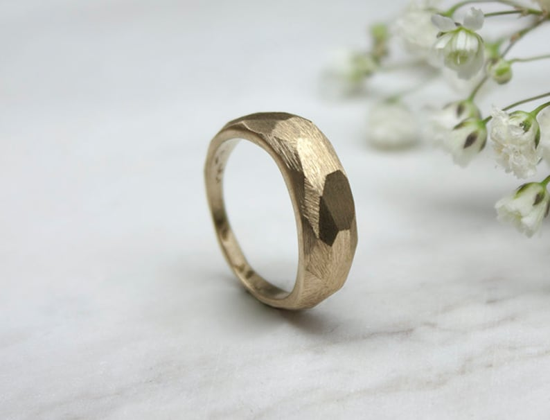 Nut Ring Savvy Jewellery Handcrafted Brass Subtle Faceted Ring Industrial Ring Minimal Jewerly