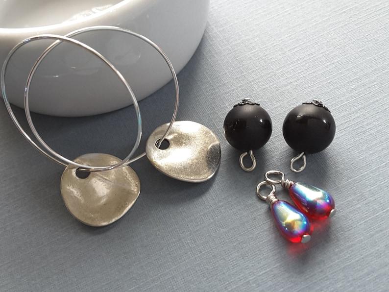 5-in-1 Silver Hoop Earrings Set