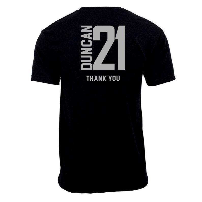 Tim Duncan 21 Thank You.
