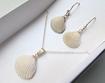 Earrings /& Bracelet Set. Mockingbird Seashell Necklace