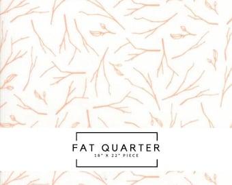 Fat Quarter   Woodland Secrets Fabric - Peach Branches Fabric - Shannon Gillman Orr - Moda Fabric - Floral Fabric - Flower Fabric