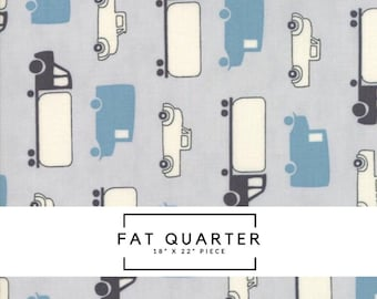 Fat Quarter - Mighty Machines Fabric - Grey Trucks Fabric - Lydia Nelson - Moda Fabric - Truck Fabric - Car Fabric - Boy Fabric