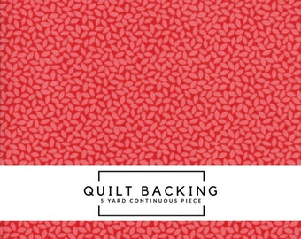 5 Yard Quilt Backing | Orchard Fabric - Red Leaves Fabric - April Rosenthal - Moda Fabric - Leaf Fabric - Fall Fabric