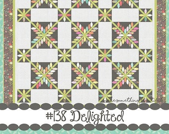 "Delighted Quilt Pattern - Corey Yoder - Moda Fabrics - Layer Cake Pattern - Quilt Pattern - 72"" x 90"" quilt"