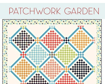 Patchwork Garden Quilt Pattern - A Quilting Life Pattern - Sherri McConnell - Fat Eighths Pattern