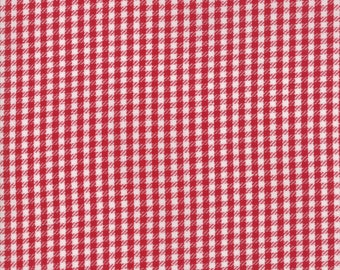 Oxford Wovens Fabric - Red Twill Check Woven Fabric - Sweetwater - Moda Fabric - Check Fabric - Red Fabric - Woven Fabric - Sold by the Yard