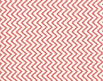 Snowflake Red Zig Zag Fabric - Christmas Figs II Fabric - Fig Tree and Co - Moda Fabric - Holiday Fabric - Geometric - Sold by the Yard