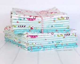 Little Red in the Woods Aqua Half Yard Bundle - Jill Howarth - Riley Blake Designs - Fabric Bundle - Half Yard Fabric Bundle - 8 pieces