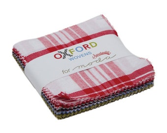 Oxford Wovens Charm Pack Fabric - Sweetwater - Moda Fabric - Plaid Fabric - Gingham Fabric - Fabric Charm Pack - 42 pieces