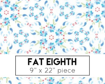 FAT EIGHTH | Coledale Fabric - White Floral Wreath Fabric - Franny & Jane - Moda Fabric - Flower Fabric - Floral Fabric