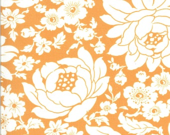 Orange Mums Floral Fabric - Shine On Fabric - Bonnie and Camille - Moda Fabric - Flower Fabric - Floral Fabric - Sold by the Yard