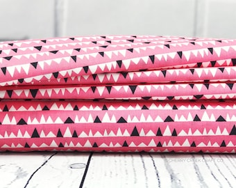 Pink Triangle Fabric - Everglades Fabric - Betsy Siber