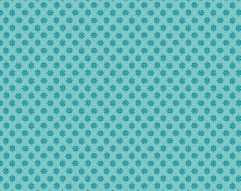 Blue Floral Needlepoint Fabric - Granny Chic - Lori Holt - Riley Blake Designs - Flower Fabric - Floral Fabric - Sold by the Yard