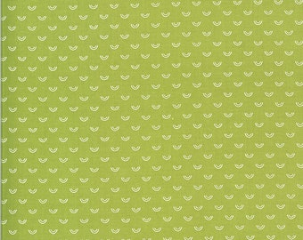 Green Rainbow Fabric - Shine On Fabric - Bonnie and Camille - Moda Fabric - Flower Fabric - Tiny Green Rainbow Fabric - Sold by the Yard