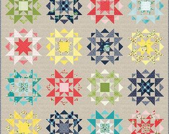 "Optimist Quilt Pattern - April Rosenthal - Prairie Grass Patterns - Moda Fabrics - Quilt Pattern - 82"" x 82"" quilt"