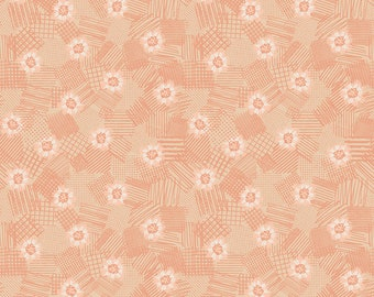 Melon Scribbled Floral Fabric - Meadow Lane Fabric - Sara Davies - Riley Blake Designs - Floral Fabric - Flower Fabric - Sold by the Yard
