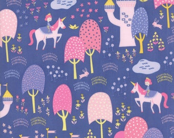 Fat Quarter | Once Upon A Time Fabric - Periwinkle Palace Grounds Fabric - Stacy Iest Hsu - Moda Fabric - Princess Fabric
