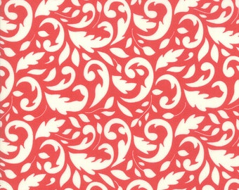 Pomegranate Swirly Fabric - Christmas Figs II Fabric - Fig Tree and Co - Moda Fabric - Red Holiday Fabric - Swirl Fabric - Sold by the Yard