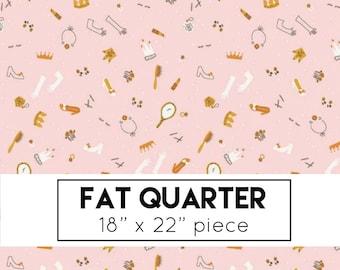 FAT QUARTER | Pink Dress Up Fabric - Guinevere Fabric - Citrus & Mint - Riley Blake Designs - Princess Fabric