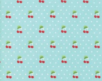 Cotton Fresh Cherries Cherry Fruit Food Farm Cotton Fabric Print BTY M706.41
