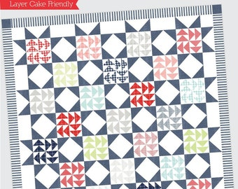 "Dreamboat Quilt Pattern - Thimble Blossoms Pattern - Camille Roskelley - Bonnie and Camille - Layer Cake Pattern - 70"" x 70"" Quilt"
