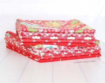 Orchard Red Half Yard Bundle - April Rosenthal - Moda Fabric - Fabric Bundle - Moda Half Yard Bundle - 5 pieces