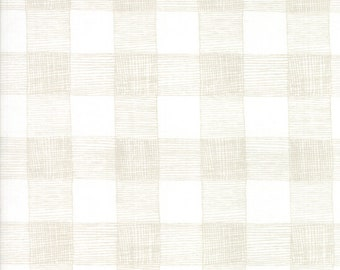 FAT EIGHTH | Farm Fresh Fabric - White Rustic Gingham Fabric - Gingiber - Moda Fabric - Farm Fabric - Gingham Fabric