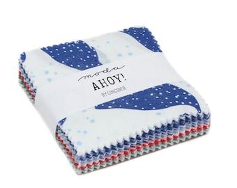 Ahoy Mini Charm Pack - Gingiber - Moda Fabrics - 42 pieces