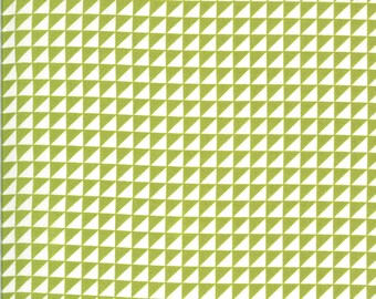 Green HST Fabric - Shine On Fabric - Bonnie and Camille - Moda Fabric - Half Square Triangle Fabric - Geometric Fabric - Sold by the Yard
