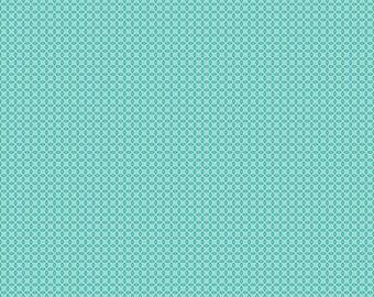Aqua  Orange Peel Fabric - Vintage Happy 2 - Lori Holt