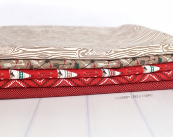 High Adventure 2 Red One Yard Bundle - Design by Dani - 5 pieces