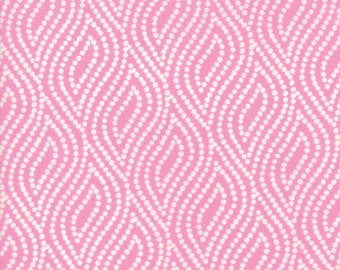 Lazy Days Fabric - Pink Dotted Floral Fabric - Gina Martin