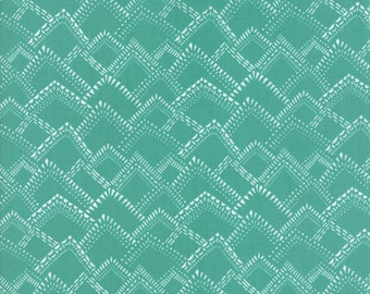 Yucatan Fabric - Turquoise Mountains Fabric - Annie Brady