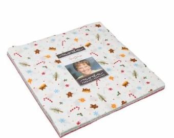 SALE   Good Tidings Layer Cake - Brenda Riddle Designs - Moda Fabrics - Christmas Fabric - Fabric Layer Cake - 42 pieces