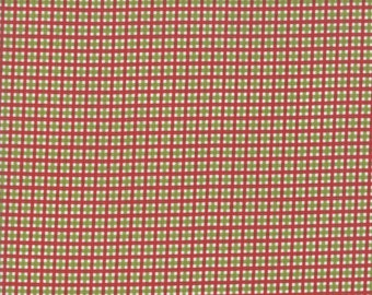 Merry Starts Here Fabric - Red & Green Christmas Plaid Fabric - Sweetwater - Moda Fabrics - Sold by the Yard