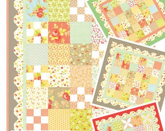 """Fig 1, 2, 3 Hankies Quilt Pattern - Figtree and Co - Moda Fabric - Quilt Pattern - Mini Quilt Pattern - 40"""" x 40"""" Quilt"""