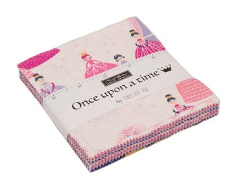 Once Upon A Time Charm Pack Fabric - Stacy Iest Hsu - Moda Fabric - Princess Fabric - Moda Charm Pack - 42 pieces