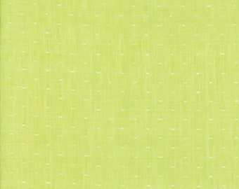 Green Dot Woven Fabric - Bonnie and Camille Wovens - Moda Fabric - Polka Dot Fabric - Woven Fabric - Sold by the Yard