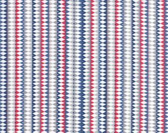 Stellar Baby Fabric - Galactic Stripes Blue Fabric - Abi Hall