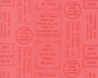 Lollipop Garden Fabric - Pink Flowerspeak Fabric - Lella Boutique