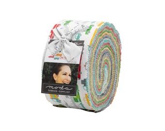 On the Go Jelly Roll - Stacy Iest Hsu - Moda Fabrics - Car Fabric - Boy Fabric - Truck Fabric - 40 pieces