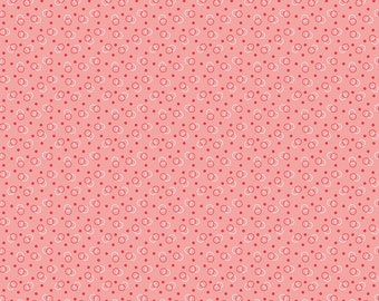 Pink Ring Toss Fabric - Vintage Happy 2 - Lori Holt