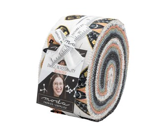 Dwell In Possibilities Jelly Roll - Gingiber - Moda Fabrics - Strips Fabric - Floral Fabric - Flower Fabric - 40 pieces