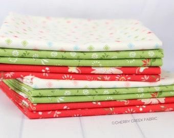 Harper's Garden Red & Green Half Yard Bundle - Sherri and Chelsi